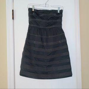 Jcrew grey strapless dress